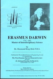 Erasmus Darwin 1731-1802 Master of Interdisciplinary Science: King-Hele, Dr. Desmond F.R.S.