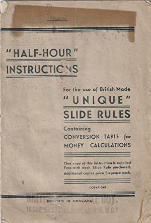 Half-Hour Instructions for the Use of British: Unique