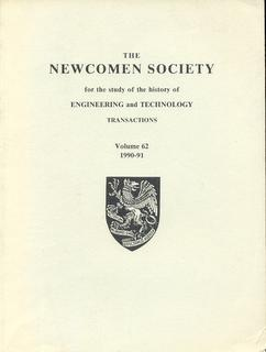 Transactions of the Newcomen Society for the Study of the History of Engineering and Technology. ...