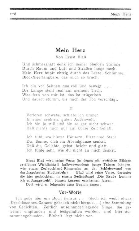 Mein Herz. In: Pan. Wochenschrift. Herausgeber Alfred: Blass (Blaß), Ernst