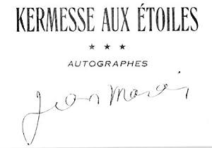 Autogramm.: Marais, Jean, Schauspieler