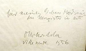 Gedicht mit eigenh. Widmung und U.: Kokoschka, Oskar, Maler,
