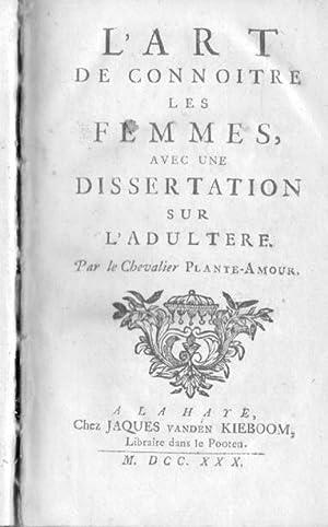 L'Art de connoître [i. e. connaître] les: Bruys, François, Pseud.:]