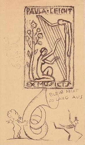 Ex musicis Paula Leicht. Lithographie oder Zinkätzung: Fingesten, Michel
