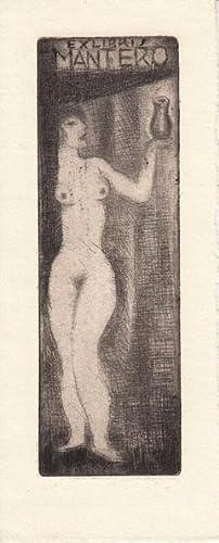Ex libris [Gianni] Mantero. Radierung.: Fingesten, Michel