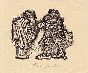 Exlibris E. T. Buchdruck-Klischee.: Fingesten, Michel