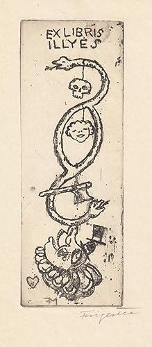 Ex libris [Sandor Laszlo] Illyés. Radierung in: Fingesten, Michel