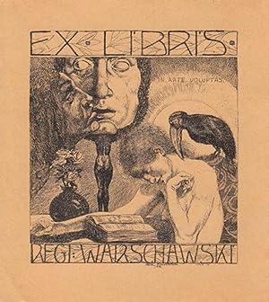 Ex libris Regi Warschawski. Algraphie (Aluminiumdruck).: Fingesten, Michel