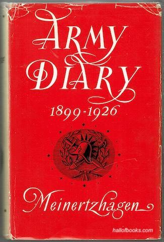 Army Diary 1899-1926 Colonel R. Meinertzhagen