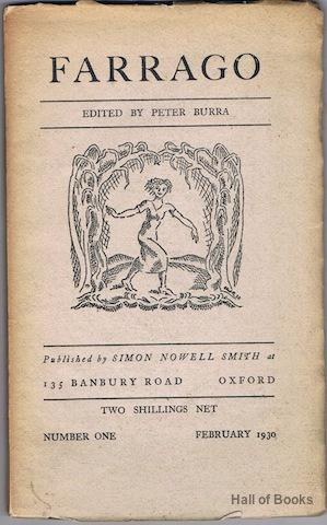 Farrago: Number One, February 1930: Peter Burra (editor)