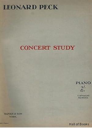 Concert Study. Piano solo: Leonard Peck