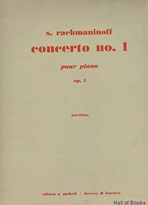 Concerto No.1 Pour Piano. Op.1. Partition: Full Score: S. Rachmaninoff