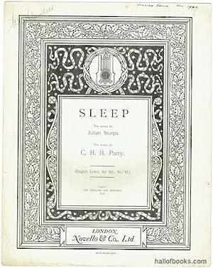 Sleep (English Lyrics, Set VII,. No. VI.).: C. Hubert H.
