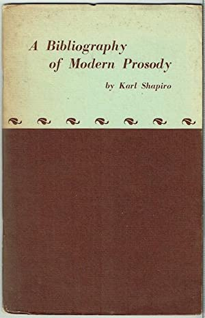 A Bibliography Of Modern Prosody (Signed)