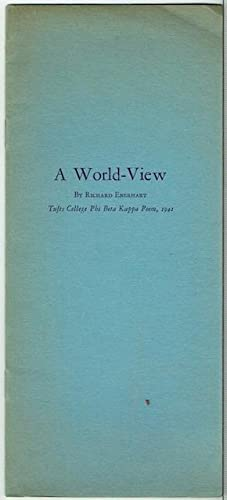 A World-View. (Inscribed to and signed by John Ciardi)