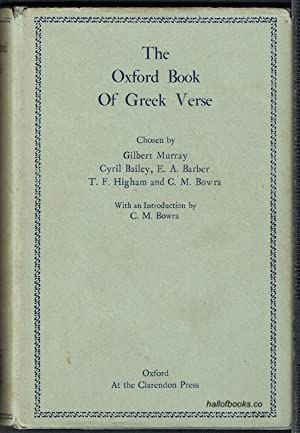 The Oxford Book Of Greek Verse