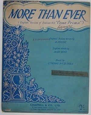 More than ever (Come Prima): M. Panzeri, Mary