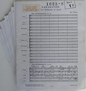 Sarabande: For Katharine in April. Full Score plus Parts: Ron Nelson