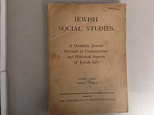 Jewish Social Studies April 1944 Volume VI Number 2