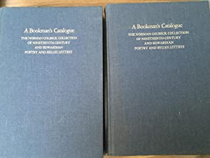 A Bookman's Catalogue The Norman Colbeck Collection of Nineteenth-Century and Edwardian Poetry...