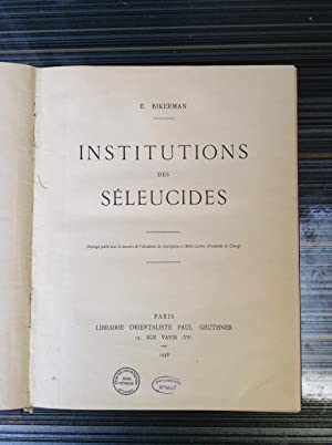 institutions des seleucides: E. Bikerman
