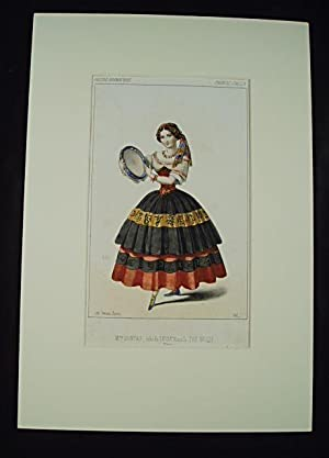 Mme. Sontag, role de Luisa, dans le: Caricature. Colour plate]