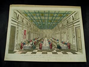 Vue perspective de la salle des Festins de Versailles en Réjouissance de la paix en 1763.: ...