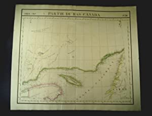 Partie du bas Canada [The map shows the mouth of the Saint Lawrence river in Canada. It was publi...