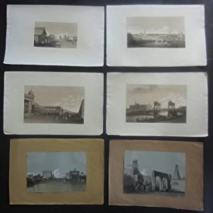 """6 lithographs from the work """"Views in: Russia] James, Rev."""