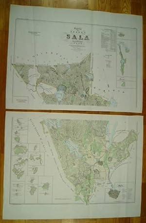 Karta öfver staden Sala med dertill lydande: Map] Ljunggren, Gustaf