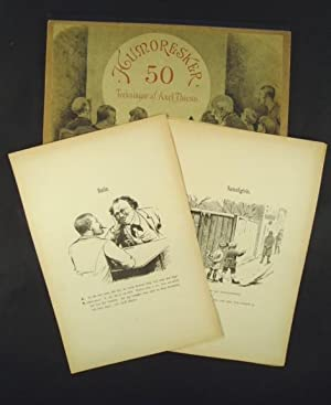 Humoresker. 50 Teckningar af Axel Thiess.: Caricatures] Thiess, Axel.
