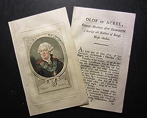 """Olof af Acrel [published for """"Svenska Galeriet""""]: Coloured portrait] Martin, J. F. / ..."""