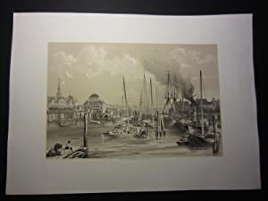 "Hambourg. [published for ""Pittoresk Resetour från Stockholm: Plate] Billmark, Carl"