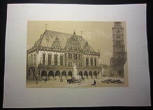 Hotel de Ville de Bréme [published for: Plate] Billmark, Carl
