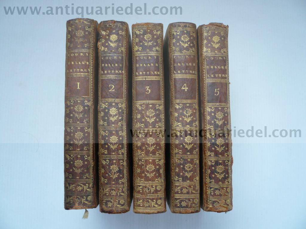 Principes de la litterature, Batteux Ch., 1775,: Batteux Charles, Abbe,