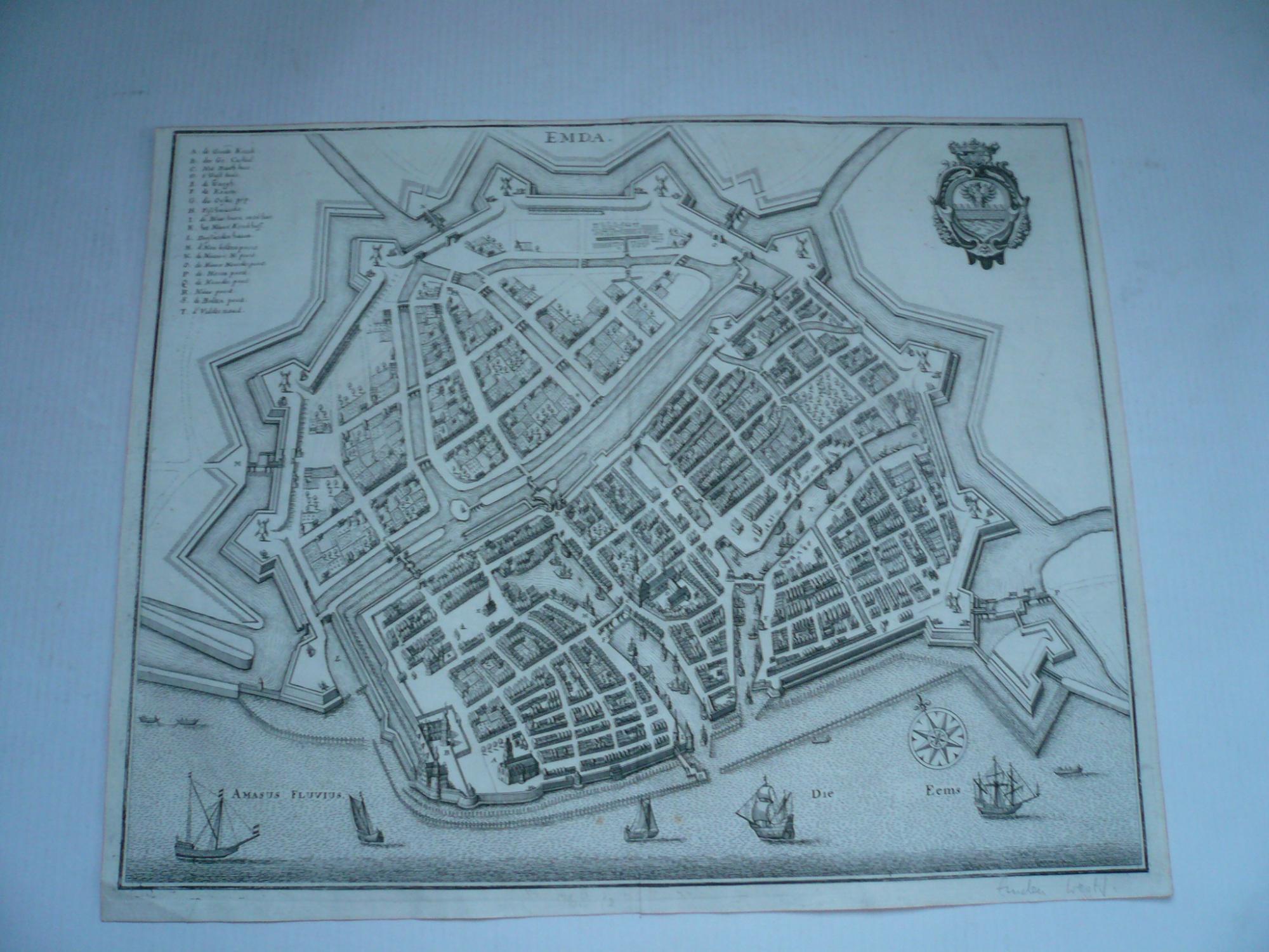 Emden, anno 1647, Merian Matthäus, Topographia Westphaliae,: Merian Matthäus, 1593-1650
