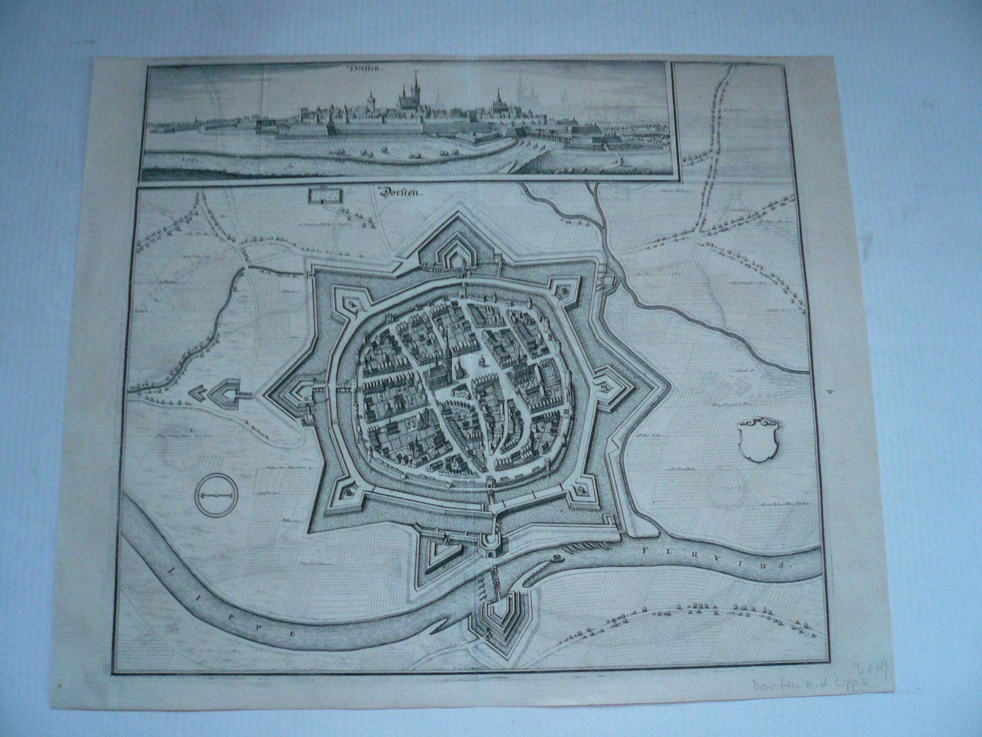 Dorsten, anno 1647, Merian Matthäus, Topographiae Westphaliae,: Merian Matthäus, 1593-1650
