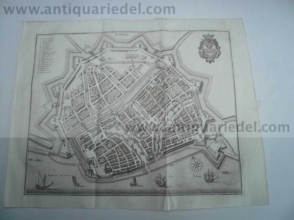 Emden, anno 1647, Merian Matthäus, Topographia Westphaliae: Merian Matthäus, 1593-1650