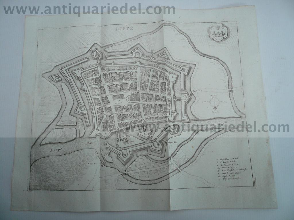 Lippstadt, anno 1647, Merian Matthäus, Topographia Westphaliae: Merian Matthäus, 1593-1650
