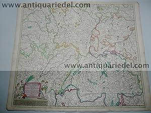 Rheni superioris, map, Danckerts anno 1690: Danckerts Cornelis +