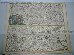 Course of the Danube, Danckerts J., anno: Danckerts Cornelis +