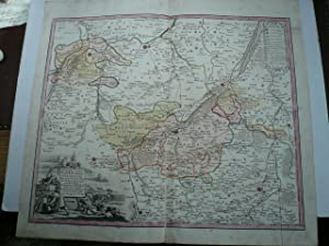 Naumburgo Citiensis, map, Homann Heirs, anno 1732, old colours: Homann J.B.,1664-1724