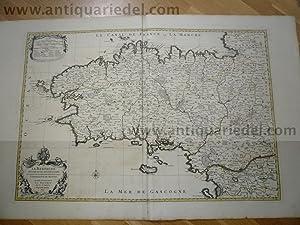Brittany-Bretagne, Sanson-Jaillot,anno 1696, map: Jaillot Alexis Hubert,