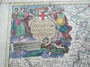 Trevirensis/Eyfella,anno 1690, map, T. Danckerts: Danckerts Cornelis +
