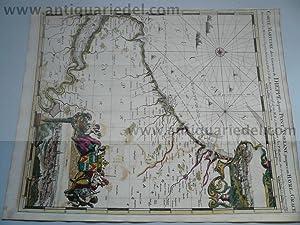 Carte Maritime/Dieppe/Rouen, anno 1693, Sanson-Jaillot: Jaillot Alexis Hubert,