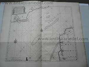 Channel/Dover/Calais, anno 1715 J.van Keulen map: Keulen Johannes van