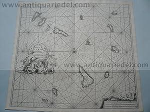 Cape Verde, anno 1715, map van Keulen: Keulen Johannes van