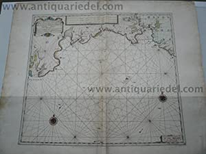 Cornwall, map anno 1715, van Keulen: Keulen Johannes van