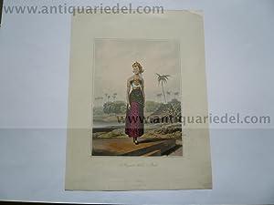 Java, Wedding clothing, anno 1817, aquatinta: Raffles, Thomas Stamford, 1781-1