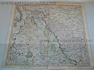 Rheinlauf Koblenz/Wesel, anno 1690, Danckerts J., selten: Danckerts Cornelis +